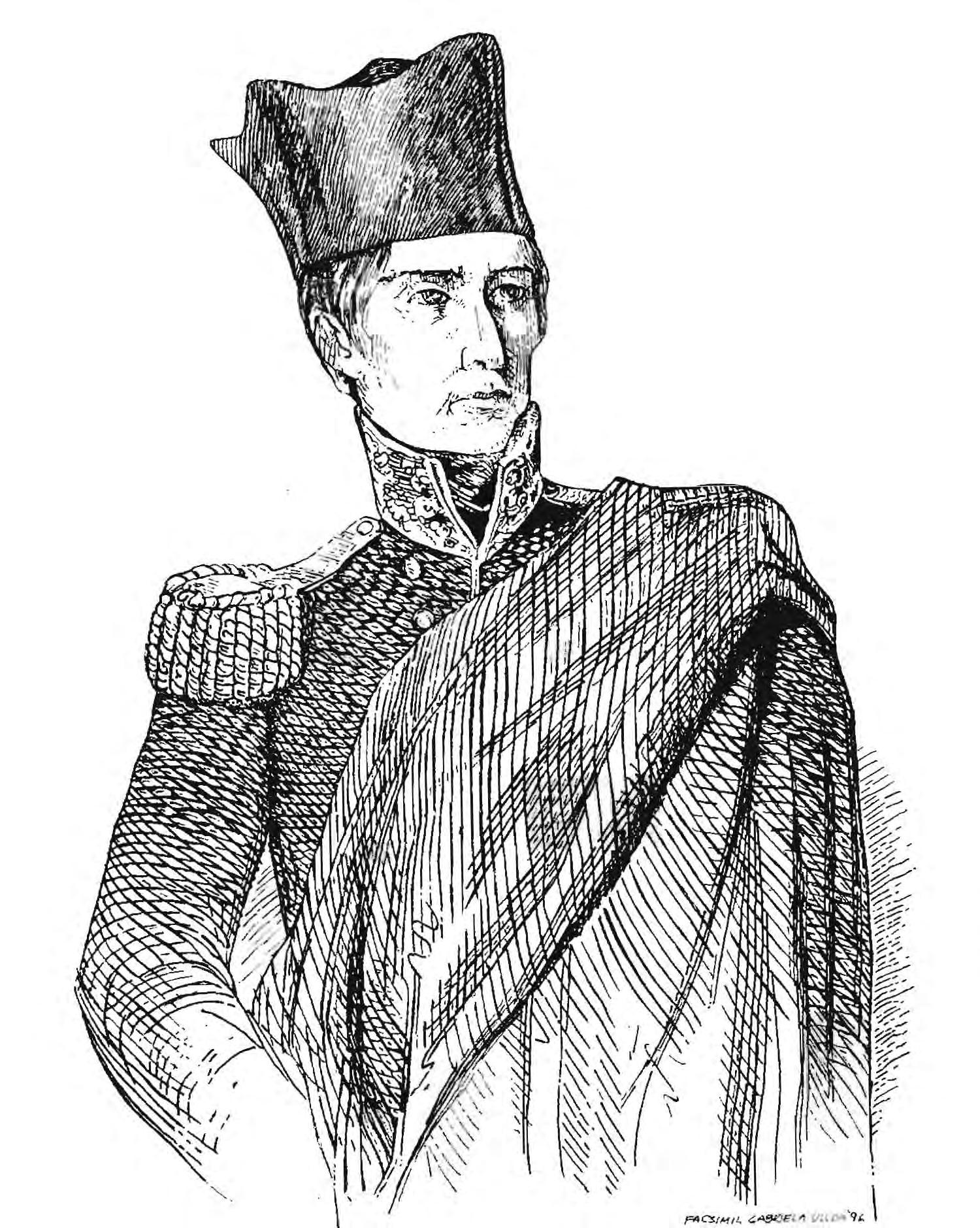 José María Morelos, grabado realizado por un contemporáneo